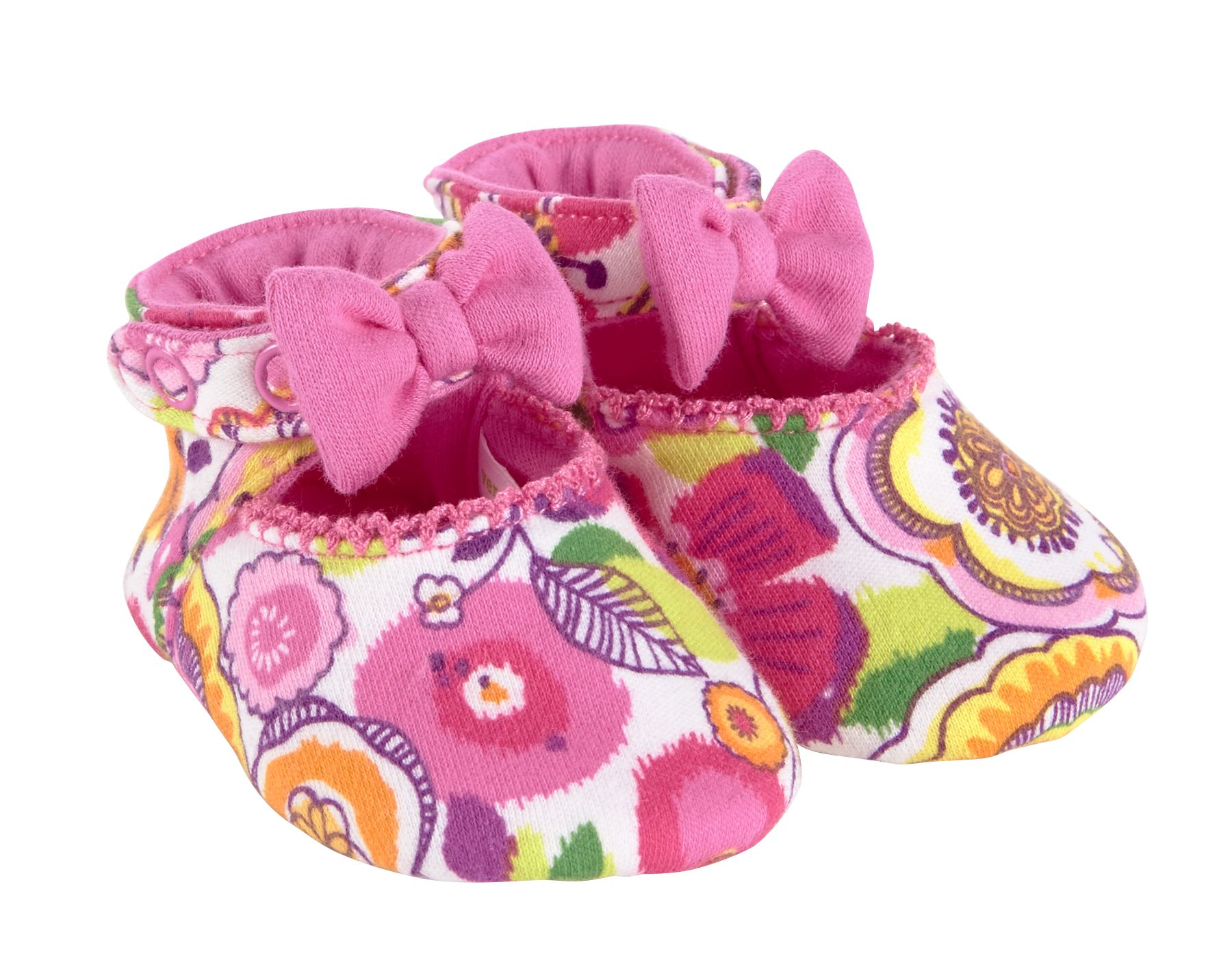 Vera Bradley Mary Jane Soft Shoes 0-6M in Clementine