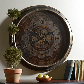 Antiqued Bronze Wall Clock