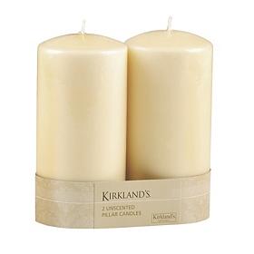 Ivory Pillar Candle, 2pk