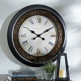 Black & Bronze Clock