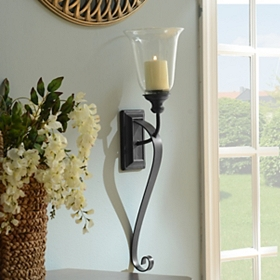 Black Campbell Hurricane Sconce
