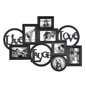 Live Laugh Love Black Collage Frame