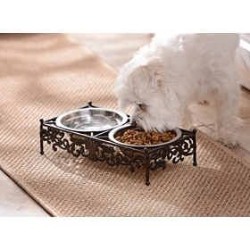 Double Bowl Pet Feeder