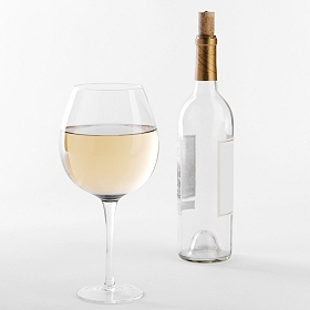 Clear XL Wine Glass
