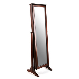 Cherry Jewelry Mirror Armoire