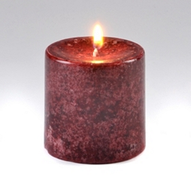 Burgundy Pomegranate Pillar Candle