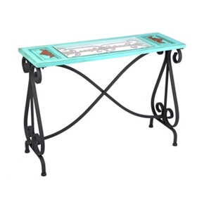 Blue Veracruz Console Table