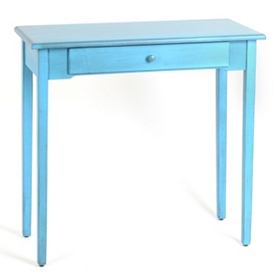 Distressed Blue Console Table