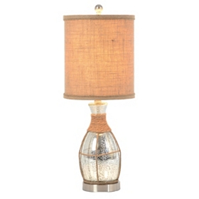 Silver Mercury Glass Rope Table Lamp