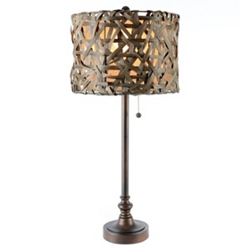 Rattan Buffet Lamp