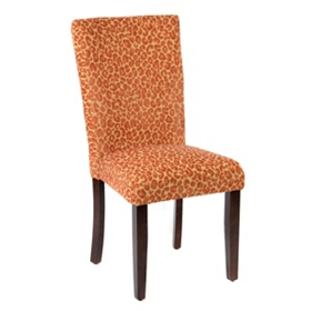Red Cheetah Parsons Chair
