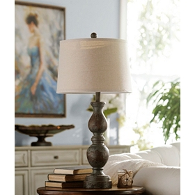 Vintage Blue Table Lamp