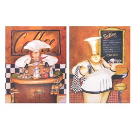 Coffee Aroma Canvas Art Print, Set of 2