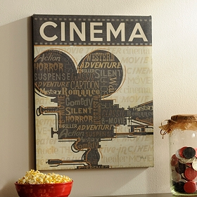 Cinema I Canvas Art Print