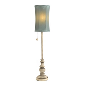 Soft Blue Buffet Lamp