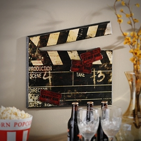 Antiqued Movie Clap Plaque