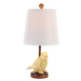 Cream Bird Table Lamp