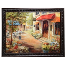 Cafe Afternoon Framed Art Print