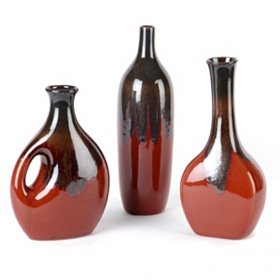 Blaze Ceramic Vase, Set of 3