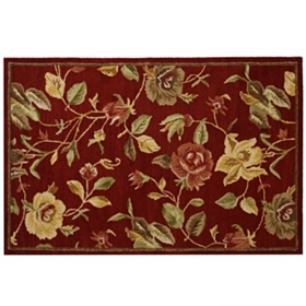 Red Charlotte 100% Wool Area Rug