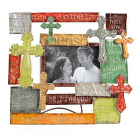 Metal Multi-Cross Photo Frame, 4x6