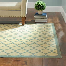 Jackson Blue Lattice Rug, 5x7