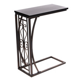 Metal & Wood Slipper Table