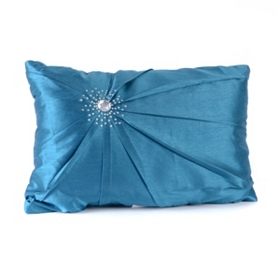 Blue Diamond Burst Pillow