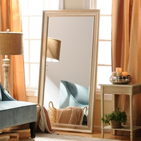 Champagne Full Length Beveled Mirror, 38x68
