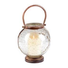 Pebble Glass Lantern, 8 in.