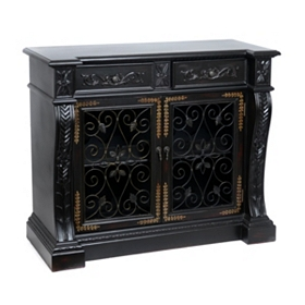 Black Charleston Wine Cabinet