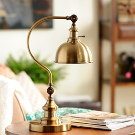 Antique Brass Pharmacy Task Lamp