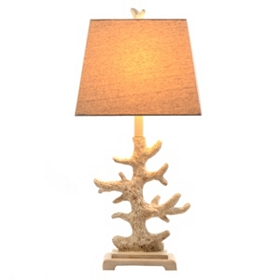 Ivory Coral Table Lamp