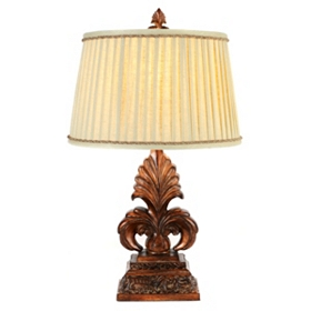 Antique Gold Fleur-de-Lis Table Lamp
