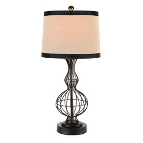 Black Wire Body Table Lamp