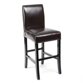 Chocolate Bonded Leather Counter Stool