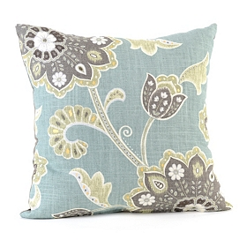 Blue Ankara Pillow