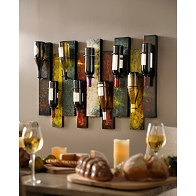 Offset Panel Wine Bottle Holder