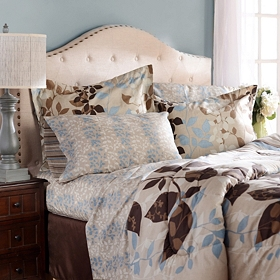 Angelica Taupe 8-pc. Reversible Queen Bedding Set
