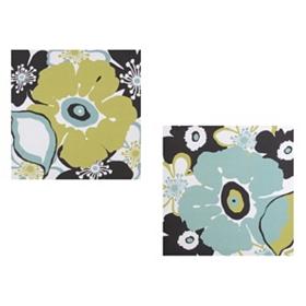 Modern Chunky Floral Canvas Art Prints