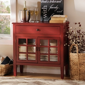 Red Trinity Cabinet