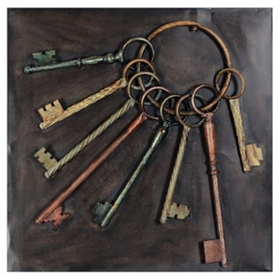 Keys Metal Wall Plaque
