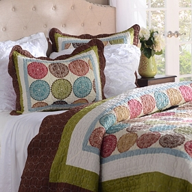Spice Medallion 3-pc. Queen Quilt Set
