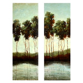 Overcast on the River Wall Art, Set of 2