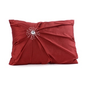 Red Diamond Burst Silk Pillow