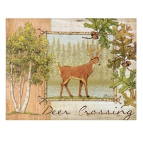 Deer Crossing Canvas Art Print