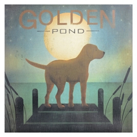 Golden Pond Yellow Dog Canvas Art Print