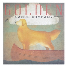Golden Canoe Canvas Art Print