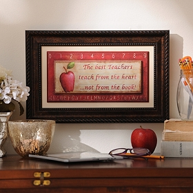 Best Teachers Framed Wall Plaque