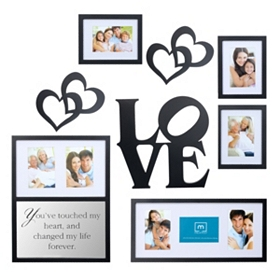 Love Decorative Photo Wall Plaque, Set of 8